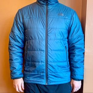 North Face Puffer Jacket - Dark Teal - EUC